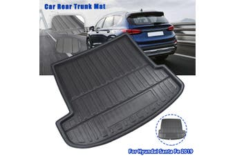 Car Rear Trunk Boot Liner Tray Cargo Floor Mat Waterproof For Hyundai Santa Fe19