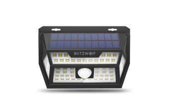 Blitzwolf BW-OLT1 Solar Power 62 LED PIR Motion Sensor Wall Light Wide Angle Waterproof for Outdoor Garden Path Yard Security Lamp