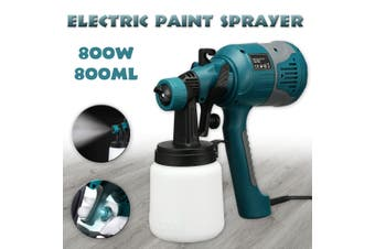 800W Electric Paint Sprayer Portable Spray Machine Adjustable 1.8+2.5mm Nozzle