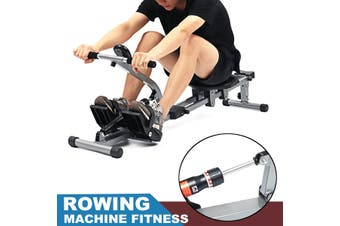 Rowing Machine 12 Level Resistance LCD Monitor Cardio Exercise Fitness Home Gym