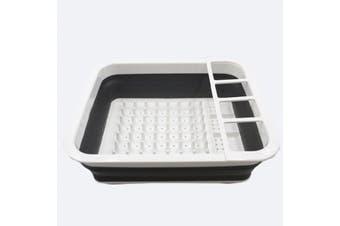 Portable Foldable Dish Rack Kitchen Storage Holder Drainer Bowl Tableware Plate Sink Design Folding Drying Fruit Vegetable Washing Kitchen Tool