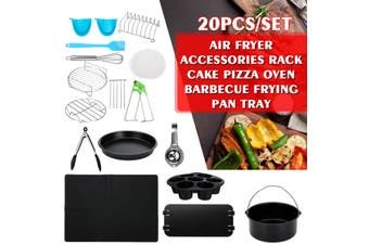 20PCS 8'' Air Fryer Accessories Rack Cake Pizza Oven Barbecue Frying Pan Tray