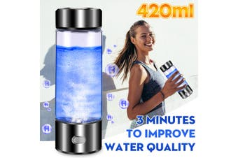 420Ml USB Charge Hydrogen Generator Rich Water Ionizer Alkaline Bottle Glass