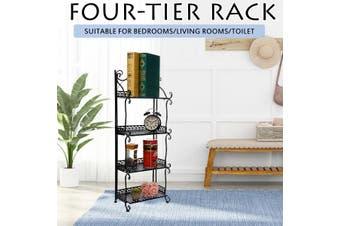 4 Tier Shelf Plant Pot Stand Storage Shoe Rack BLACK 60cm length x 95cm height x 25cm width