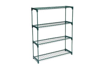 4 Tier Greenhouse Rack Shelf Frame Stand Tunnel Plant Garden Storage Grow Sheds