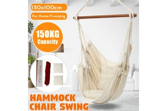 Portable Hanging Hammock Chair Swing Seat Thicken Garden Camping Travel+Pillows