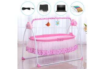 Electric Auto Baby Swing Crib Cradle Infant Bed Baby Cradle Sleep + Mat + Music