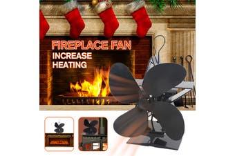 2019 Heat Powered 4 Blades Stove Fan Wood Log Burner Fireplace Fan Eco Friendly(typeA not swing)