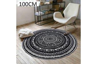 Geometric Living Room Bedroom Computer Hanging Basket Chair Creative Carpet 100 cm