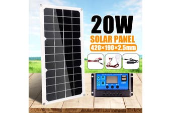 12V 20W Solar Panel Set Solar Panels Charger with Lamp Controller Solar Panel Kit
