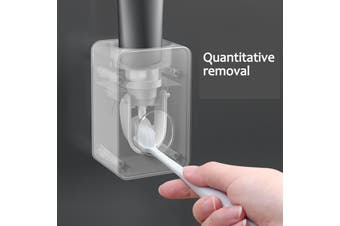 Automatic Toothpaste Holder Wall-mounted Punch-free Toothpaste Toothbrush Rack Toothpaste Rack Lazy Squeezer Artifact
