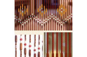 90x220cm 31 Line Wooden Bead Curtain Fly Screen Porch Bedroom Living Room Bathroom