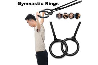 ABS Gymnastic Rings Adjustable With Buckle Straps Strength Pull Up Training