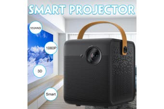 【Free Shipping + Flash Deal 】Smart DMD Projector 550ANSI 1080P Full 2GB DDR3 16GB EMMC Home Theater Prejector