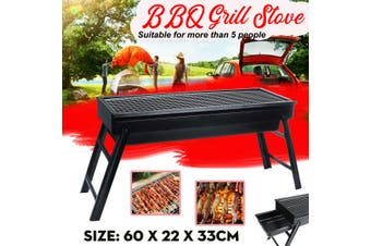 Foldable BBQ Charcoal Grill Portable Barbecue Camping Picnic Grill Stove Outdoor