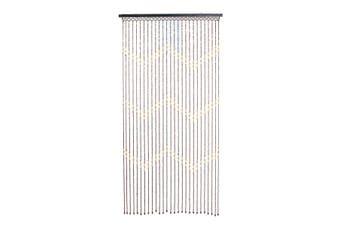 Fashion Wooden Beads Door Curtain Blinds Handmade Fly Screen Wooden Beaded Balcony Room Divider Decor 90x175cm