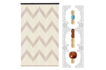 90x195 Wooden Door Curtain Blinds Handmade Fly Screen Wooden Beads Room Divider
