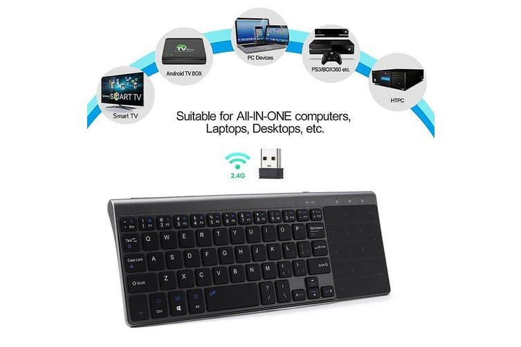 2.4G Mini Wireless Keyboard With Touch-pad Mouse For Android Smart TV Box PC bg