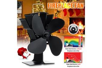 1400RPM Heat Powered Stove Fireplace Fan Fire Silent Operation 4 Blades Saving Ecofan 120CFM For Wood Log Burning Burner Room Home