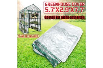 Garden Greenhouse Green House Shelf Shed Plant Warm Durable PE Cover Roof
