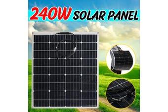 240W 18V Flexible Monocrystalline Solar Panel Tile Mono Panel Car Boat Camping