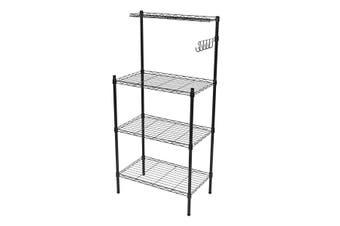 Kitchen Microwave Oven Shelf Storage Rack Floor Shower Restroom Organizer Holder