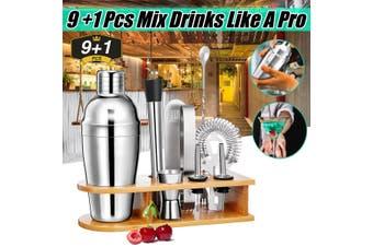 10pcs Cocktail Shaker Bartender Bar Stainless Steel Mixer Bar Bartender Set Kit