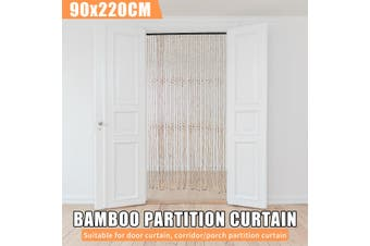 NATURAL BAMBOO CURTAIN BLINDS DOOR ROOM DIVIDER 31 Strands