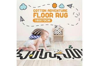 180x70cm Cotton Children Kids Room Car City Scene Traffic Highway Map Road Baby Pad Adventure Game Mat Carpet Floor Foldable Rug