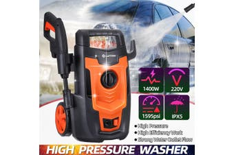 220V Electric High Pressure Washer With Wheel 1600PSI Water Jet Sprayer Car Wash Machine Protable Garden Cleaner Sprayer System Kit