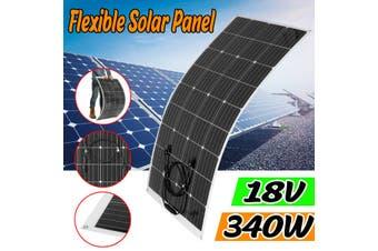 340W 18V Flexible Monocrystalline Solar Panel Tile Mono Panel Waterproof Camping