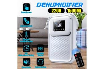 1500ml 220V Portable Home Dehumidifier Bedroom Basement Air Dryer Mini Moisture