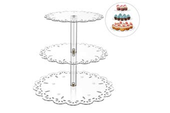 3 Tier Cake Acrylic Stand Display Wedding Christmas Party Cupcake Tower Holder