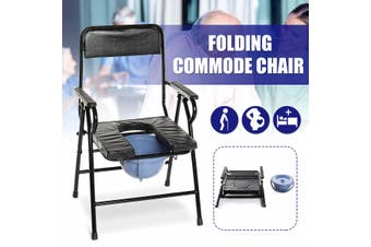 Soft Folding Commode Chair Portable Toilet 150KG High Quality Steel