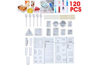 AUS 120pcs Resin Casting Craft Mold Set Making Silicone Jewelry Pendant Toy
