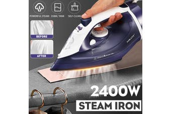 2400W Cordless Steam Iron Handheld Clothes Ironing Home Fabric Laundry Steamer