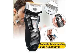Men Rechargeable Cordless Electric Shaver Razor Trimmer Facial Double Edge Foil
