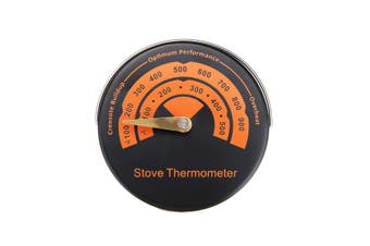 Fireplace Flue Pipe Thermometer 0℃~500℃ Gauge For Stove Fan Wood Log