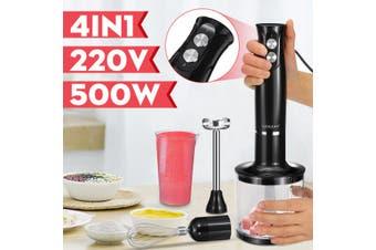 Sokany 220V 500W 4 in 1 Hand Stick Immersion Blender Set Kitchen Food Meat Egg Stick