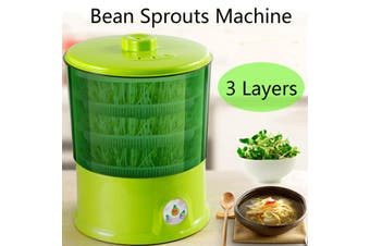 3 Layers Automatic Bean Sprouts Machine Thermostat Seed Growing Sprout Maker