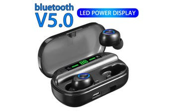 V5.0 bluetooth 3500mAh TWS Headset Wireless Headphone Stereo Earphones Earbuds