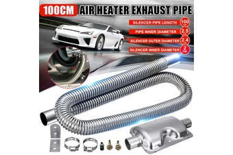 100cm Stainless Steel Exhaust Pipe + 24mm Silencer Car Parking Air Diesel Heater