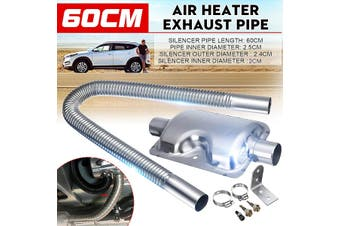 60/100/150/200cm Stainless Steel Exhaust Pipe With Silencer For Car Parking Air Diesel Heater