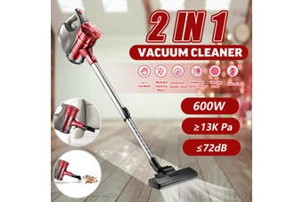 600W Corded Stick Vacuum Cleaner 2 in 1 Handheld Upright Bagless Dust Cleaning