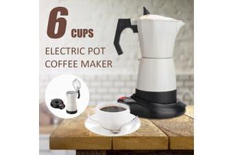 6 Cup Electric Moka Tea Coffee Maker Percolator Espresso Pot Machine Home Office