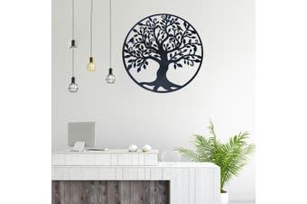 (60x60cm Iron Tree Wall Decoration)Birds Tree Sculpture Ornament Home Room Wall Decoration