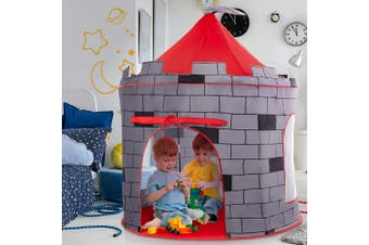Knight's Castle Kids Play Tent -Indoor & Outdoor Children's Playhouse Durable & Portable with Free Carrying Bag Super Large Tent Children's Baby Playing House