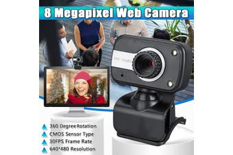8 Megapixel HD Webcam Universal USB Desktop Notebook Digital Video Recording Webcam with Microphone
