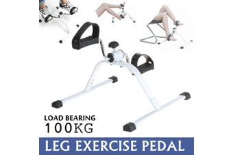Indoor Leg Trainer Fitness Pedal Exercise Bike Cycle Rehab Home Gym Workout