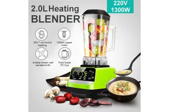 1300W 2L Auto Electric Heating Blender Adjustable Speed Food Mixer Juicer 220V
